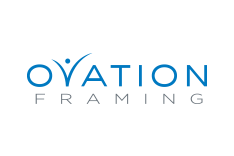 Ovation Framing - Logo, website and catalog design
